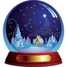 Яндекс.Фотки ❤ liked on Polyvore featuring christmas, snow globes and snowglobe