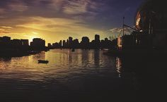 A magnificent sunset, downtown Vancouver. Downtown Vancouver, West Coast, New York Skyline, Celestial, Sunset, Landscape, Travel, Outdoor, Outdoors