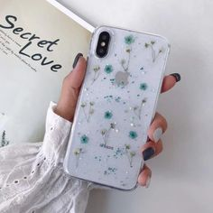 AESTHETIC SOFT FLOWERS TRANSPARENT PHONE CASE - For iPhone 7 / Blue Floral