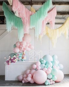 Balloons, neon and streamers. sounds like a PARTY 🎉 💥 Bangin Hangins Moonshot Balloons Little Pineapple Neon Pepper Sprout Hire Basia Puchalski Floral Design Shape Steel Mad About Cakes Diy Party Decorations, Balloon Decorations, Birthday Decorations, 21st Birthday, Birthday Parties, Pastell Party, Party Mottos, Balloon Installation, Balloon Garland