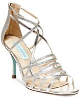 Blue by Betsey Johnson Crown Mid Heel Evening Sandals
