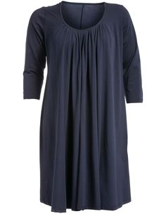 Cotton jersey dress in Dark-Blue designed by Isolde Roth to find in Category Dresses at navabi.de