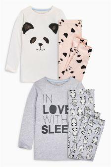 Набор из двух пижам в серых и розовых тонах In Love With Sleep (3- 23690c90b027c