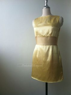 yellow dress see through dress sleeveless dress by productsofme