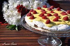 Tort de bezea cu crema de lamaie | Retete culinare cu Laura Sava - Cele mai bune retete pentru intreaga familie Mai, Cake Cookies, Tiramisu, Deserts, Homemade, Ethnic Recipes, Food, Home Made, Essen