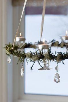 ungewöhnliche Idee für Kerzenteller - Teelichter in Gläsern