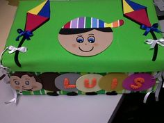 Cajita de cartón decorada en foami - Pesquisa Google
