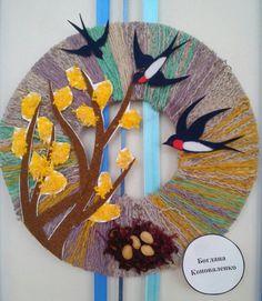 Paper Crafts For Kids, Easy Crafts For Kids, Easter Crafts, Art For Kids, Arts And Crafts, Spring Art, Spring Crafts, Wreath Crafts, Diy Crafts
