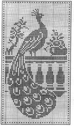 crochet beautiful lace curtain and filet of peacockStrona główna Wyświetl wersję na komputerCentre piece for bedspread from Mary Card Garden SeriesKira scheme crochet: The curtain bird Peacock Crochet, Peacock Pattern, Crochet Birds, Crochet Cross, Crochet Motif, Crochet Designs, Crochet Doilies, Cross Stitch Bird, Cross Stitch Charts