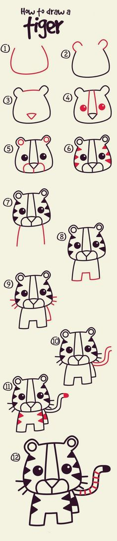 How to draw Cute Animals: 40 Examples