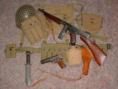 The Best Military combo built and shared the same ammo. M1911 Colt 45 Auto and the Thompson Sub Machine Gun