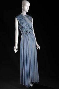 "Madame Alix Grès (1903 – 1993), France, ca. 1937 ""Grecian"" evening gown, blue silk jersey"