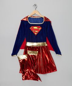 Take a look at this Red & Blue Supergirl Dress-Up Outfit - Girls by Superman on #zulily today!