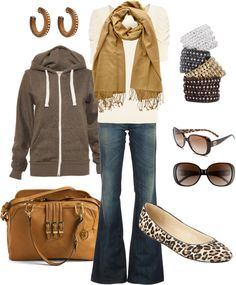 """mixing browns"" by htotheb ❤ liked on Polyvore"