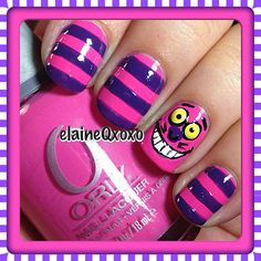 Cheshire Cat nails!!! Instagram photo by elaineqxoxo #nail #nails #nailart