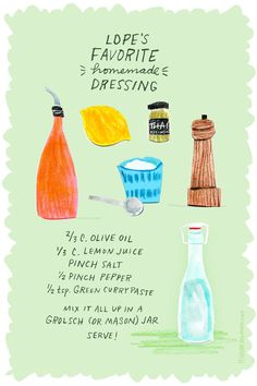 Salad Dressing with Green Curry Paste