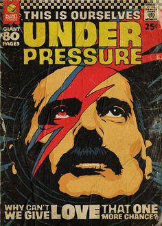 'Planet Mercury' – Queen-Songs als Vintage Comic Cover von Butcher Billy - Classic Art Freddie Mercury, Comics Vintage, Vintage Comic Books, Vintage Music, Rock Posters, Band Posters, Queen Songs, Rock Vintage, Retro Vintage