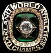 1989 Oakland A's World Series Championship Ring beating the S.F Giants World Series Rings, Mlb World Series, Oakland Athletics, Oakland Raiders, World Series Winners, Gene Nelson, Cola Wars, Baseball Ring, Ring Of Honor