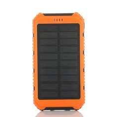 New Solar Charger 6000mAh Portable Power Bank Dual USB with LED Light bateria externa Powerbank for iPhoneHTC Smart Phone