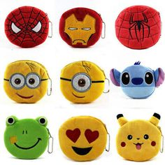 Costume Props Strong-Willed Cute Cartoon Pokemon Go Pikachu Plush Coin Purse Children Zipper Change Purse Wallet Superman Pouch Bag For Kid Gift Possessing Chinese Flavors