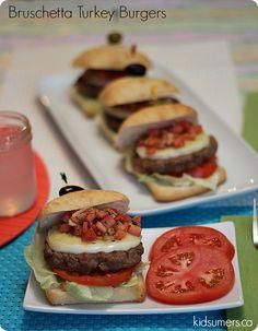 BBQ Recipe: Bruschetta Turkey Burgers #TurkeyThursday
