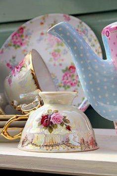 Tea Party ~ lovely china...