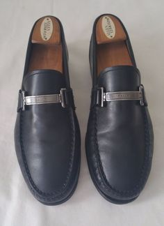 cc13636dc5304 Bally Men s Tecno Shoes Size 8.5 Black  Bally  LoafersSlipOns Mens Leather  Loafers