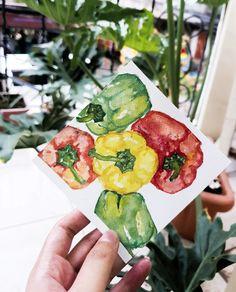 Watercolor Avocado Toast, Watercolor Art, Watermelon, Stuffed Peppers, Fruit, Breakfast, Food, Morning Coffee, Watercolor Painting