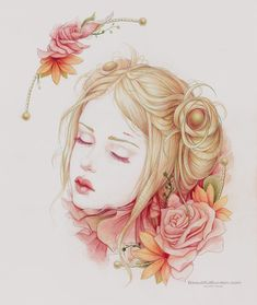 Gorgeous Drawing Using Bristol Paper and Color Pencils // Atonement by Jennifer Healy