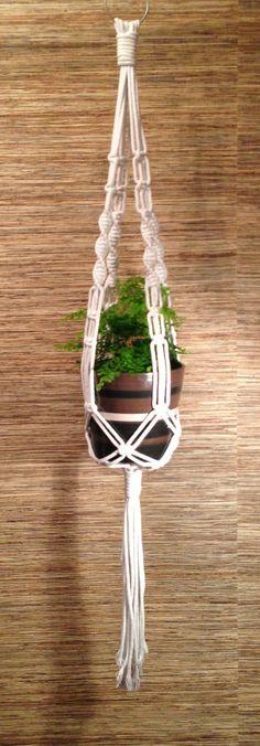 Macrame piantare gancio / gancio bianco di LunariaCreative