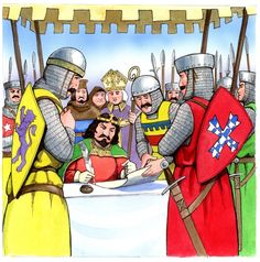 King John seals the Magna Carta 1215 witnessed by William De Forz Lord of Skipton and 24 barons Magna Carta, King John, Medieval Castle, Middle Ages, Seals, Captain America, Lord, Teaching, Superhero