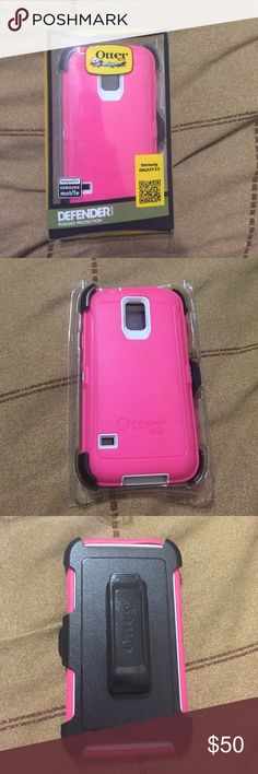 Samsung GALAXY S 5 Pink and black otter box never been used Accessories Phone Cases