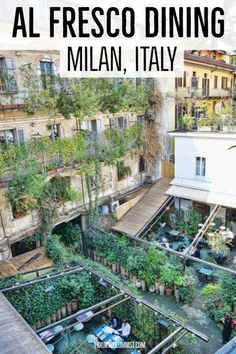 Here is a selection of the best al fresco Milan restaurants including Ceresio 10 Corso Como, Un Posto a Milano, Terrazza 12 and Restaurant Milan, Outdoor Restaurant, Milan Travel, Rome Travel, Fresco, Milan Bar, Italy Destinations, Things To Do In Italy, Best Rooftop Bars
