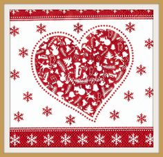 PAPER napkins for DECOUPAGE-CHRISTMAS Hearts Red or Gold by VintageNapkins on Etsy