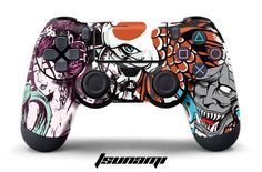 PS4 Controller Designer Skin for Sony PlayStation 4 DualShock Wireless Controller - Tsunami - http://androidizen.com/shop/ps4-controller-designer-skin-for-sony-playstation-4-dualshock-wireless-controller-tsunami/
