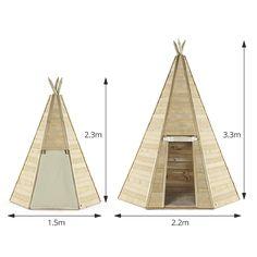 Wooden Teepee Hideaway