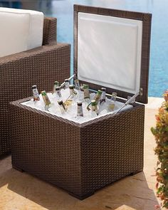 Unlike typical plastic beverage coolers that often detract from your outdoor decor.