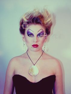 ursula makeup (and ADORE the idea of blowing a million bubbles into the scene)