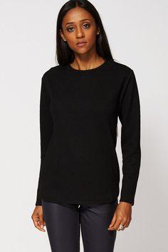 Black Abstract Pattern Sweatshirt