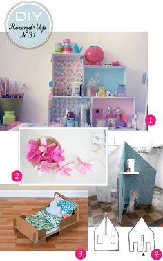 explication pour fabriquer le nécessaire pour les poupées en carton Diy Dollhouse, Dollhouse Furniture, Dollhouse Miniatures, Cardboard Play, Carton Diy, Doll Home, Kawaii Doll, Barbie House, Diy For Kids