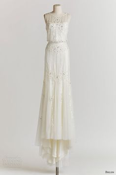 bhldn spring 2015 magnolia sleeveless beaded blouson wedding dress