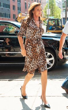 Wild Side from Caitlyn Jenner's Best Pics  The stylish star steps out in NYC in a frisky leopard-print dress.