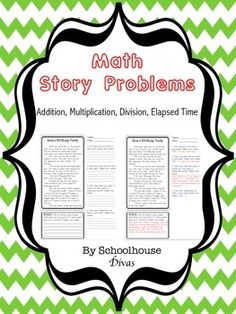 Worksheets Mathematical Story About  Addition,subtraction,multiplication And Division spring into math story problems addition by first grade get on your reading teachers good side there are 46 mini stories involving subtraction multiplication division elaps