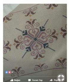 This Pin was discovered by der Palestinian Embroidery, Blue Tiles, Le Point, Bargello, Cross Stitch Patterns, Diy And Crafts, Projects To Try, Embroidery Ideas, Cross Stitch Embroidery