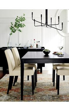 Facet Extension Dining Table | Crate and Barrel