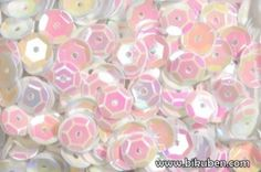 Bilde av produkt: Paljetter - Runde - Hvit Perlemor
