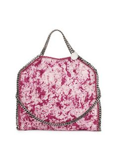 Stella McCartney Small Falabella Splash Fold-Over Tote Bag, Bright Pink Spring 2015