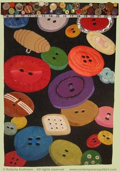 """Image of """"Buttons"""" quilt by Roberta Andresen"""