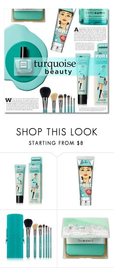 """~ Aqua beauty ~"" by dolly-valkyrie ❤ liked on Polyvore featuring beauty, Benefit, Sigma Beauty, too cool for school and Bumble and bumble"