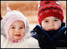 Little Prince George and Princess Charlotte of Cambridge